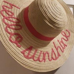 """""""Hello Sunshine """" Floppy Beach Hat"""